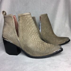 New Jeffrey Campbell Cromwell Suede Snake Booties